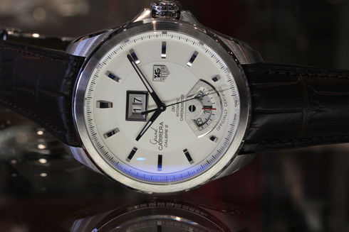 Tag Heuer Grand Carrera Silver Dial Mens 【WAV5112.FC6231】