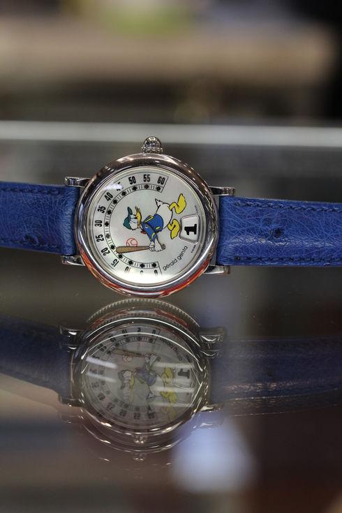 Gerald Genta Retro Fantasy Donald duck baseball watch【G.3612】