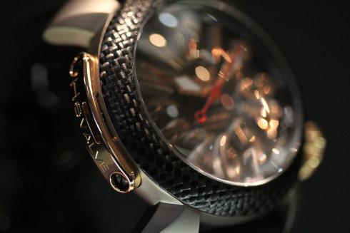 ガガ ミラノ 腕時計 ダイビング 48MM ブラック シリコン