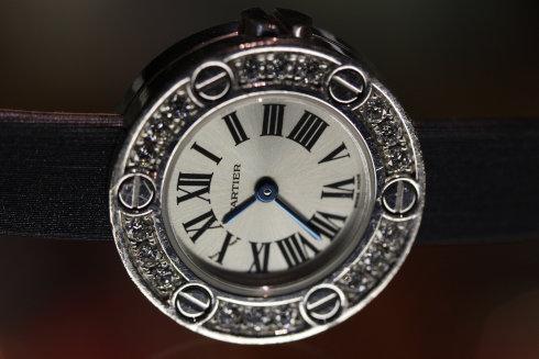 Aランク シルバー ホワイトゴールド レディース腕時計 カルティエ
