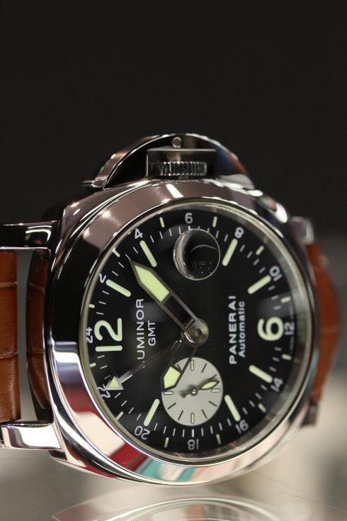 【中古】 パネライ ルミノール GMT (Ref:PAM00088) ブラック