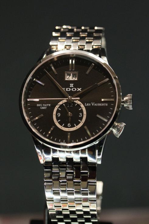エドックス レ・ポベール ビッグデイト GMT クォーツ 62004 3NIN