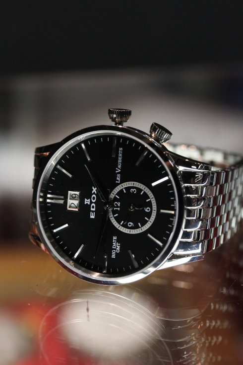 エドックス レ・ボベール ビッグデイト GMT ブラック メンズ 62004 3NIN