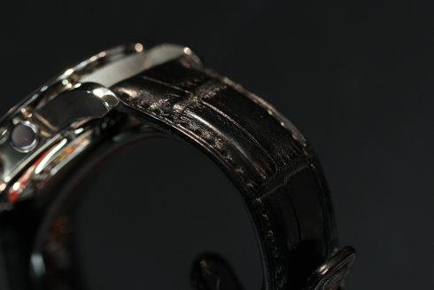 クロコ革ベルトの画像 IW371438 SSケース×革ベルト
