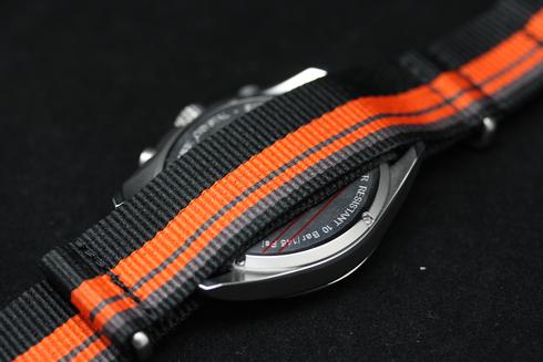 ハミルトン HAMILTON カーキ パイロット 腕時計 ベルト部分の画像