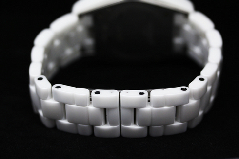 ベルト部分の画像 シャネル J12 オートマチック ダイヤベゼル セラミック ホワイト