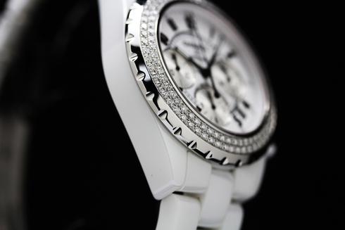 シャネル スポーツ J12 オートマチック クロノグラフ ダイヤベゼル セラミック ホワイト メンズ H1008【腕時計】【時計】