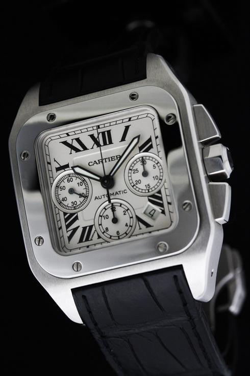 Cartier(カルティエ) サントス100 クロノグラフ(W20090X8) メンズ