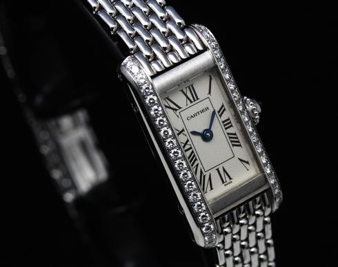 【Cartier】18k white gold & Diamond Ladies Watch (5)[1].jpg