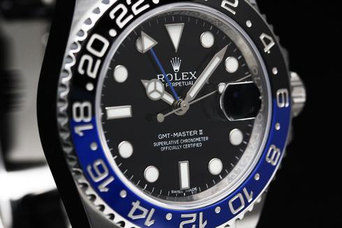 ブルー&ブラックのバイカラー セラクロムベゼル 116710BLNR  (3).jpg
