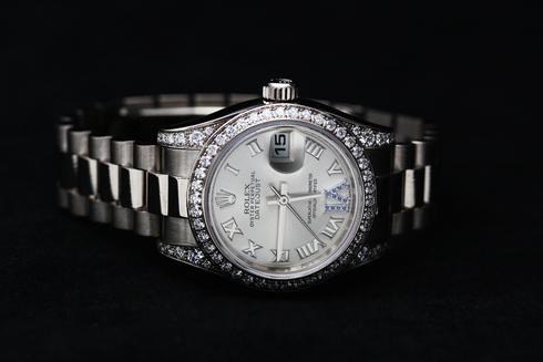 ROLEX Datejust Diamond Bezel Ref.179159 K18WG Lady's  (7)[1].jpg