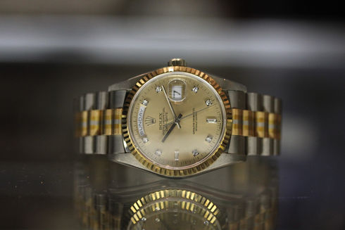 ROLEX DAY-DATE 18239BIC OYSTER PERPETUAL K18YG/WG/PG