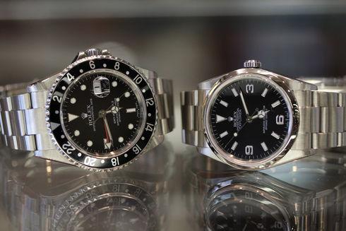 ロレックス GMT-Ⅱ【Ref.16710】と、EX-Ⅰ【Ref.114270】が同時入荷いたしました。