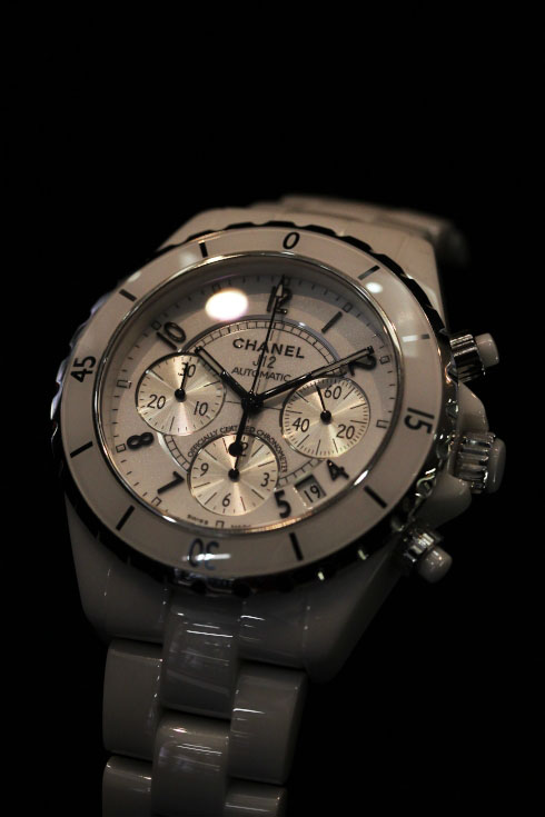 CHANEL J12 AUTOMATIC CHRONOGRAPH/White【H1007】