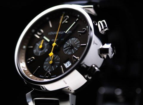 LOUIS VUITTON TAMBOUR CHRONOGRAPH Q1121