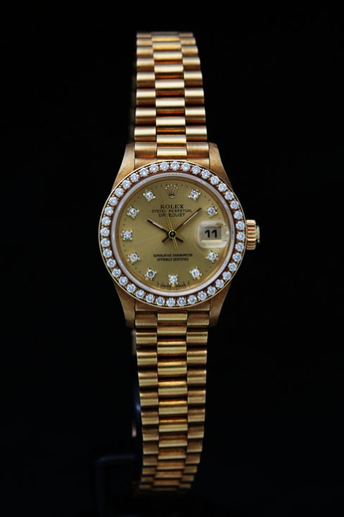 ROLEX Datejust 69138G K18 gold Lady's