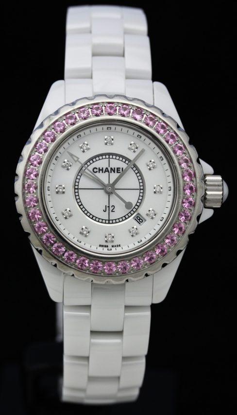 J12 White Ceramic 33mm H2010 Quartz Watches