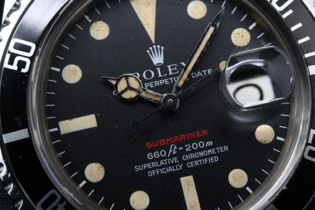 ROLEX アンティーク サブマリーナデイト 赤サブ 1680 メンズ 自動巻き
