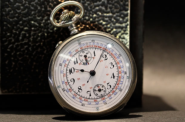 Vintage Chronograph pocket watch Valjoux5
