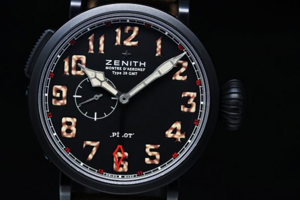 Zenith Pilot Montre d'Aeronef Type 20 GMT Mens Watch