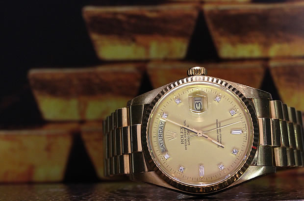 ROLEX DAY-DATE OYSTER PERPETUAL K18YG Ref.18038A