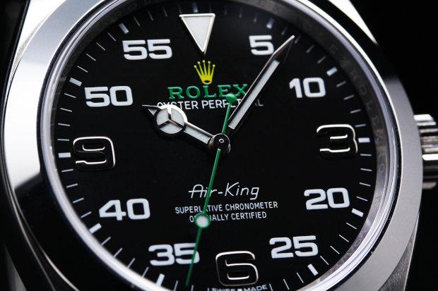 ロレックス エアキング 100m防水 パワーリザーブ48時間 自動巻き cal.3131 904L