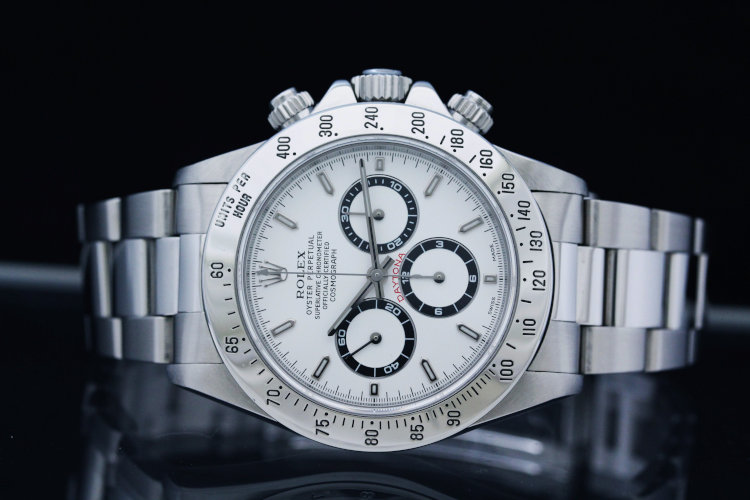Rolex Daytona 16520 Steel Zenith Cosmograph White Dial 40mm Chronograph