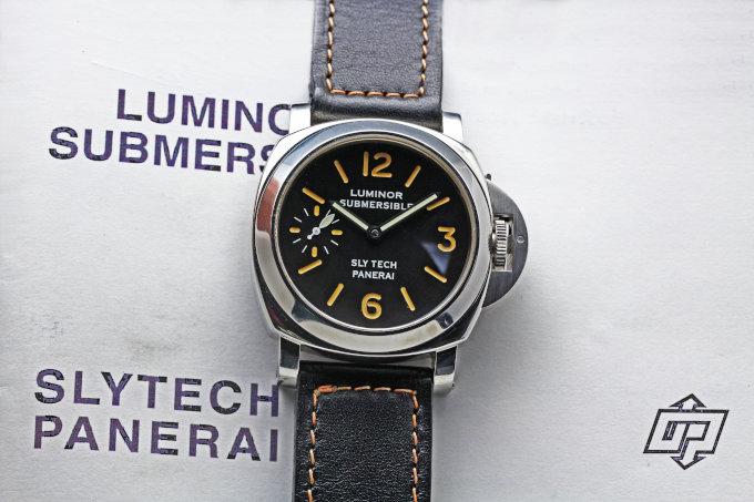OFFICINE PANERAI Pre Vendome Luminor Submersible Slytech 1996's 5218-205A