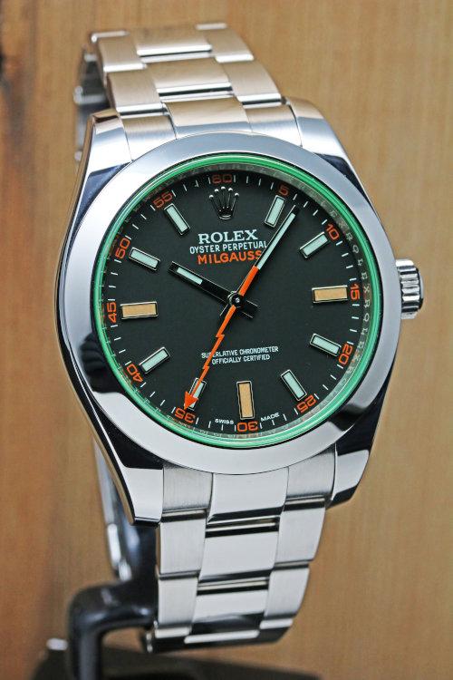 Rolex Milgauss Green Crystal Mens Watch