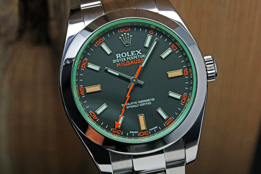 Rolex Milgauss Green Crystal Mens Watch