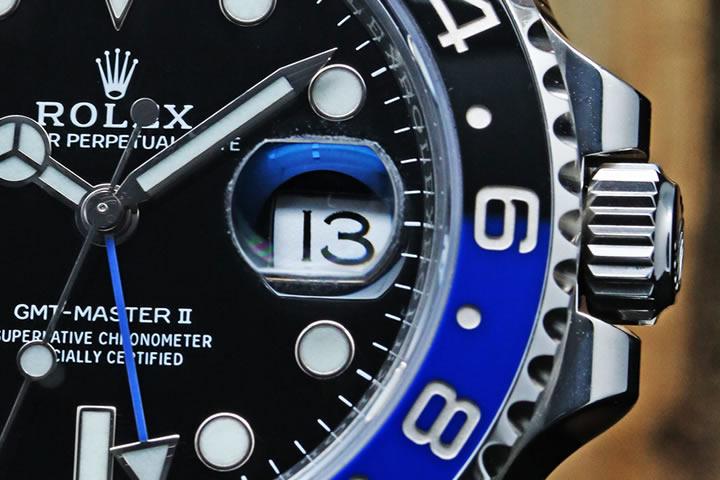 GMT Master II Black Dial Stainless Steel Men's Watch