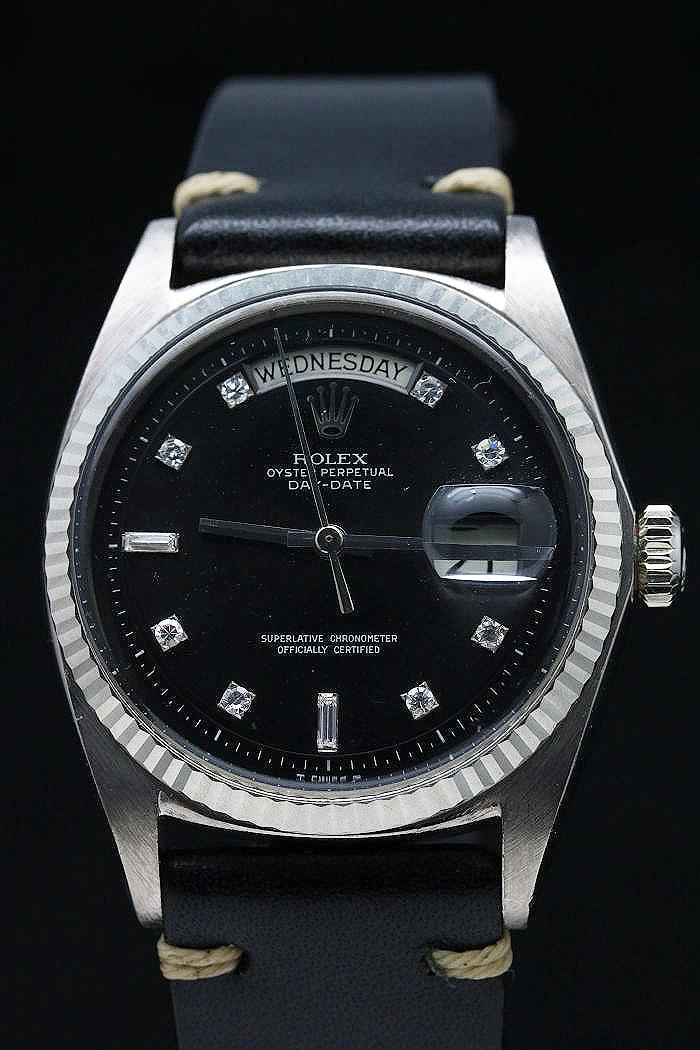 size 40 ab157 be96b ロレックス デイデイト Ref.1803/9 ホワイトゴールド ブラック ...