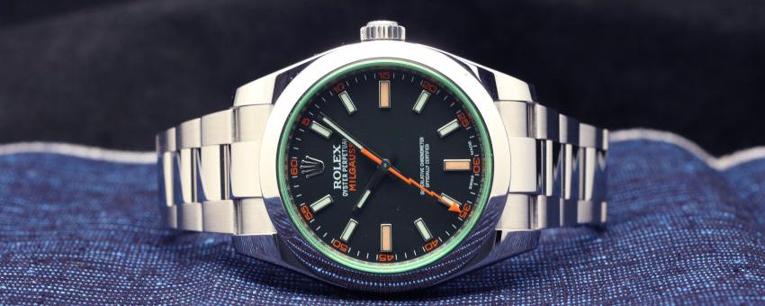 Rolex Green Crystal Milgauss Steel Automatic Oyster Bracelet Watch 116400GV (2)