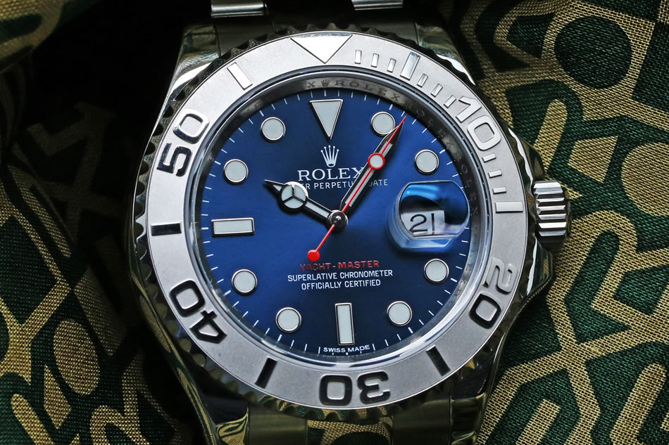 ROLEX YACHT MASTER BLUE DIAL Roresium 116622