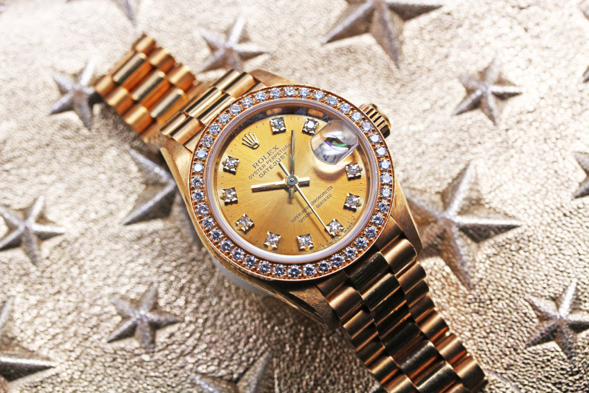 Rolex 69138G Ladies 18K Diamond Dial & Bezel