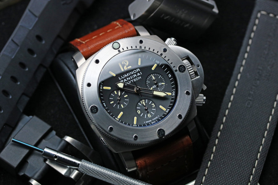 OFFICINE PANERAI Luminor Submersible Chrono SLYTECH 47mm black Dial Special Edition PAM00202