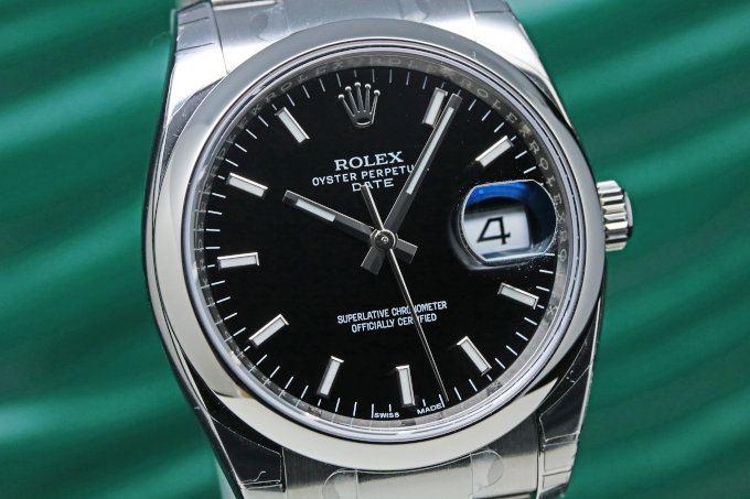 ROLEX Oyster Perpetual Date 115200 Black Dial Date Men's Watch (6)