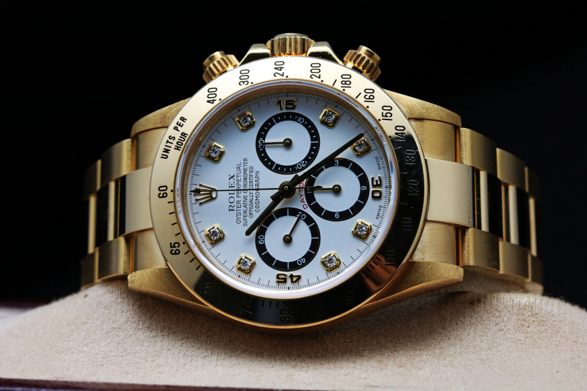 Rolex DAYTONA YellowGold White Diamond Dial 16528G
