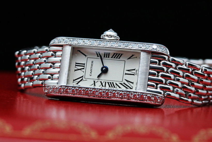 Cartier 18k white gold & Diamond Ladies Watch