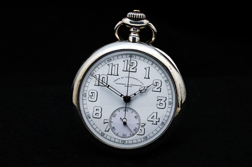 Vacheron & Constantin Corps of Engineers USA chronograph Pocket Watch