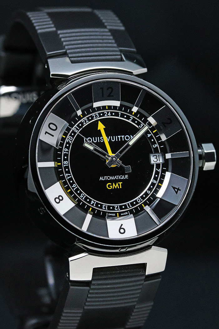 ルイヴィトン タンブールインブラック GMT Q113K