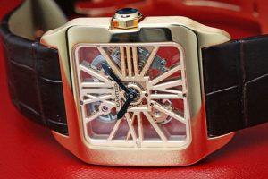 Cartier Santos-Dumont Skeleton Dial 18 kt Rose Gold W2020057
