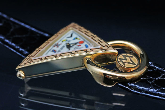 ウォルサム フリーメイソン K18YG金無垢 手巻き 腕時計
