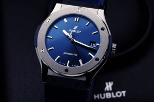 Hublot Classic Fusion Blue Titanium Watch 45mm 511.NX.7170.LR