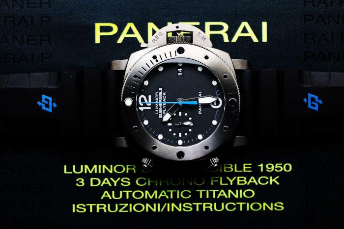 パネライ ルミノール サブマーシブル 1950 3デイズ クロノフライバック チタニオ PAM00614