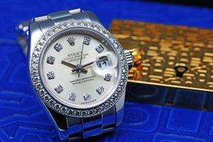 Rolex Lady-Datejust Platinum Diamond Bezel 179136G