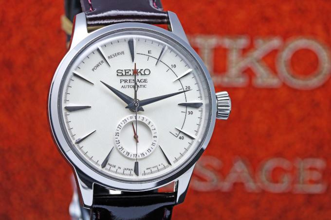 SEIKO セイコー プレザージュ ベーシックライン STAR BAR限定 パワーリザーブモデル シルバーピンク SARY091
