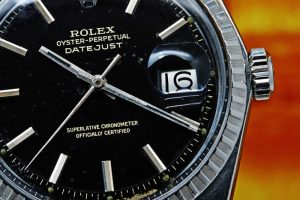 Rolex Oyster Perpetual Datejust ref 1603 Black Gilt Dial circa 1965