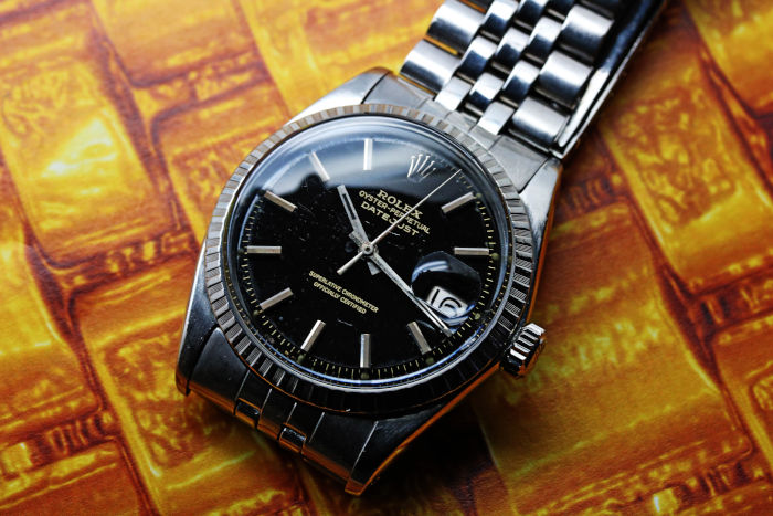 ロレックス デイトジャスト Ref.1603 ブラックミラーダイアル 1965年