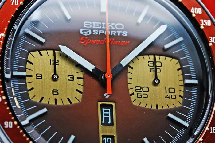 セイコー ファイブスポーツ 6138-0040 スピードタイマー 茶馬 純正ブレス 1974年9月